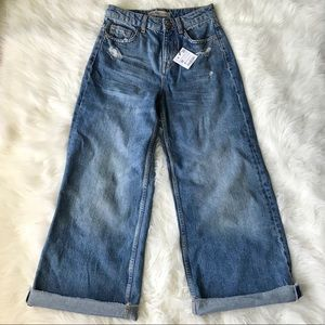 NWT Zara distressed jeans
